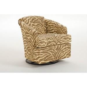 Morris Home Furnishings Chairs - Swivel Barrel Cass Swivel Barrel Chair