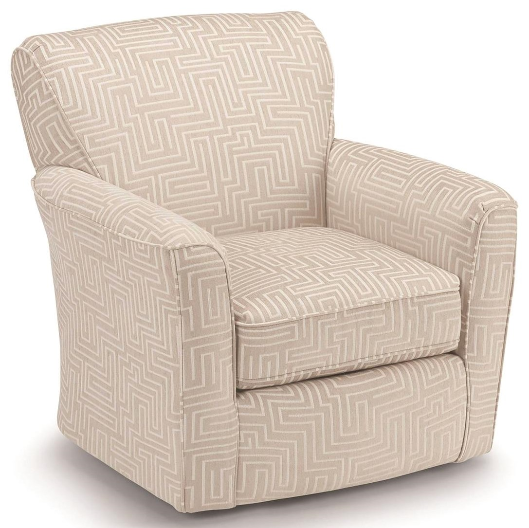Chairs - Swivel Barrel Swivel Glider Chair by Best Home Furnishings at Darvin Furniture