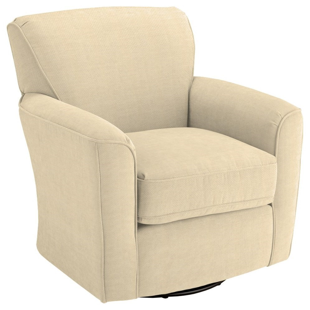 Chairs - Swivel Barrel Kaylee Swivel Barrel Chair by Best Home Furnishings at Lindy's Furniture Company