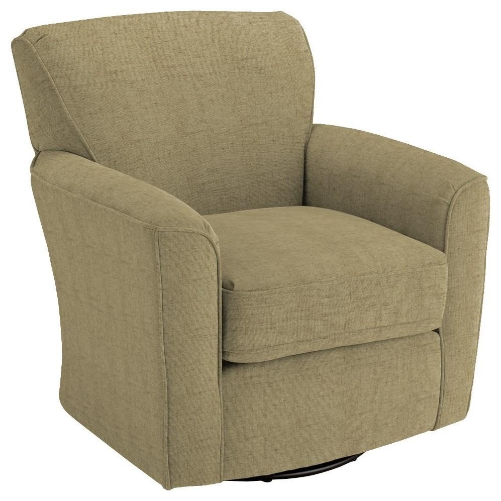 Chairs - Swivel Barrel Kaylee Swivel Barrel Chair by Best Home Furnishings at Lucas Furniture & Mattress
