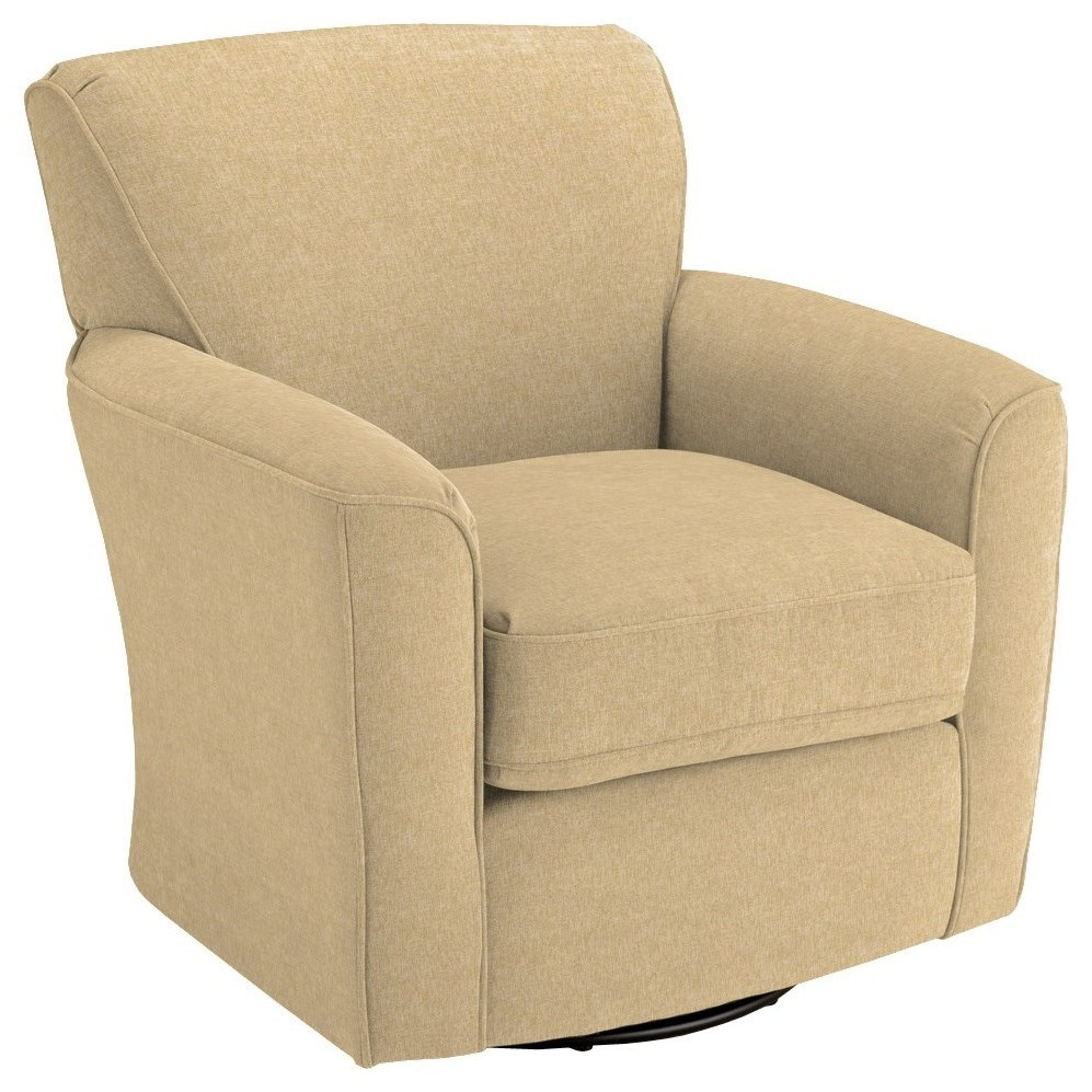 Chairs - Swivel Barrel Kaylee Swivel Barrel Chair by Best Home Furnishings at Baer's Furniture