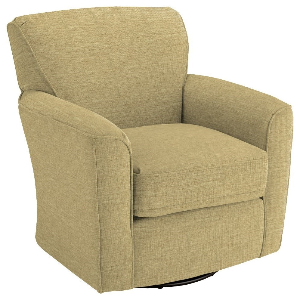 Swivel Barrel Kaylee Swivel Barrel Chair by Best Home Furnishings at Walker's Furniture