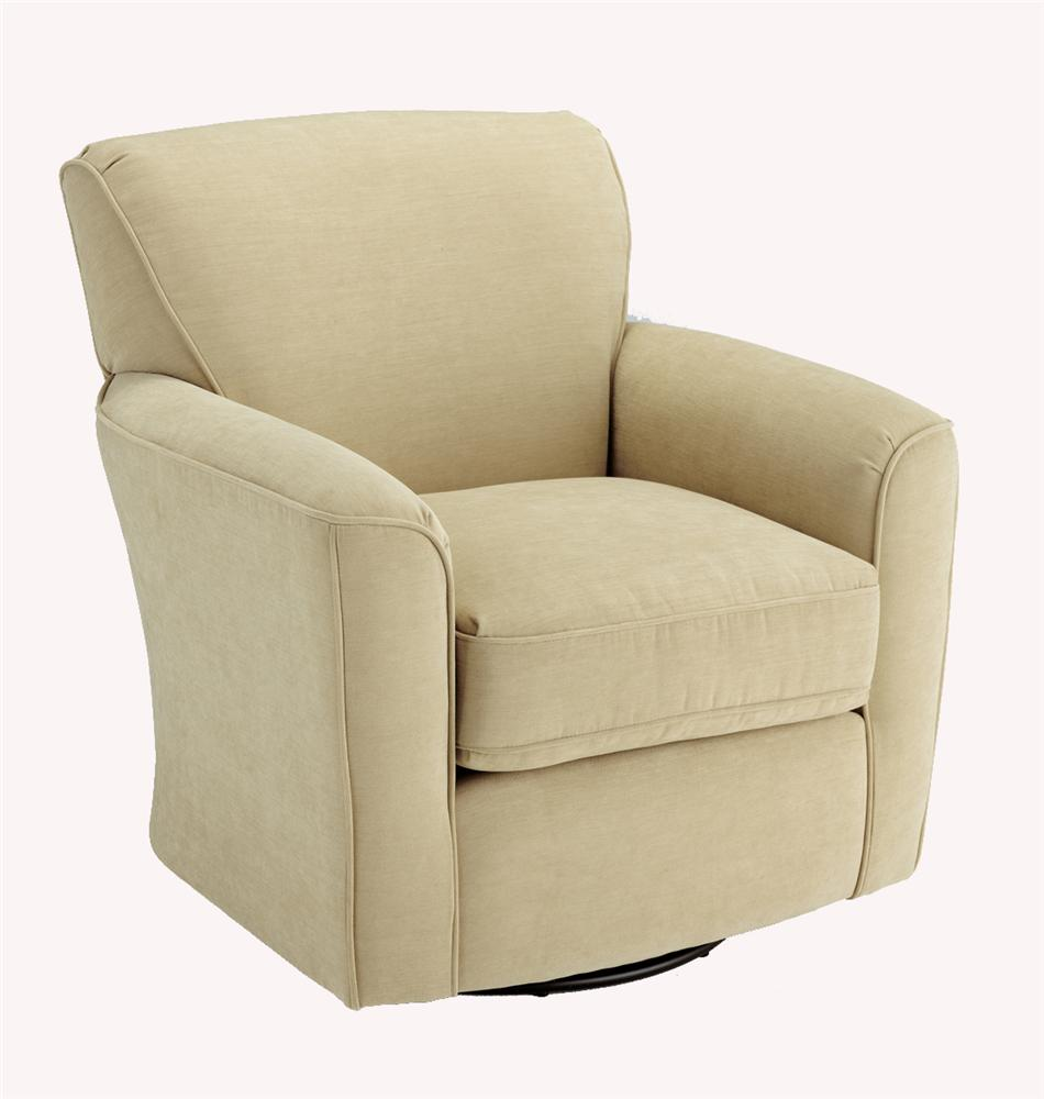 Chairs - Swivel Barrel Kaylee Swivel Barrel Chair by Best Home Furnishings at Fashion Furniture