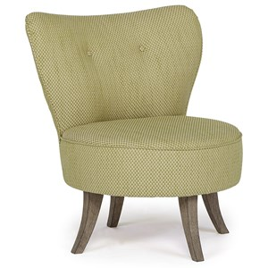 Modern Accent Chair with Swivel Base