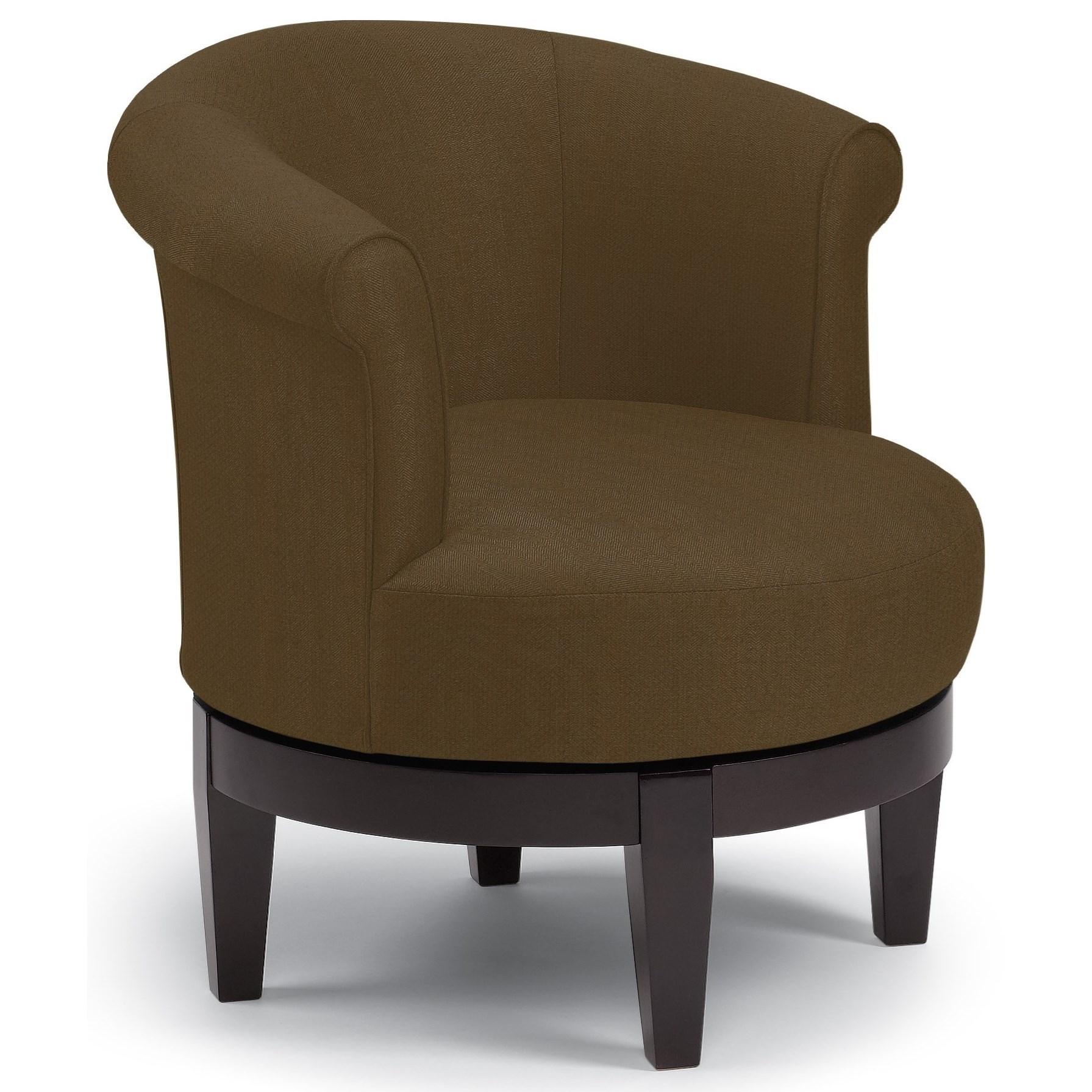 Chairs - Swivel Barrel Attica Swivel Chair by Best Home Furnishings at Lucas Furniture & Mattress