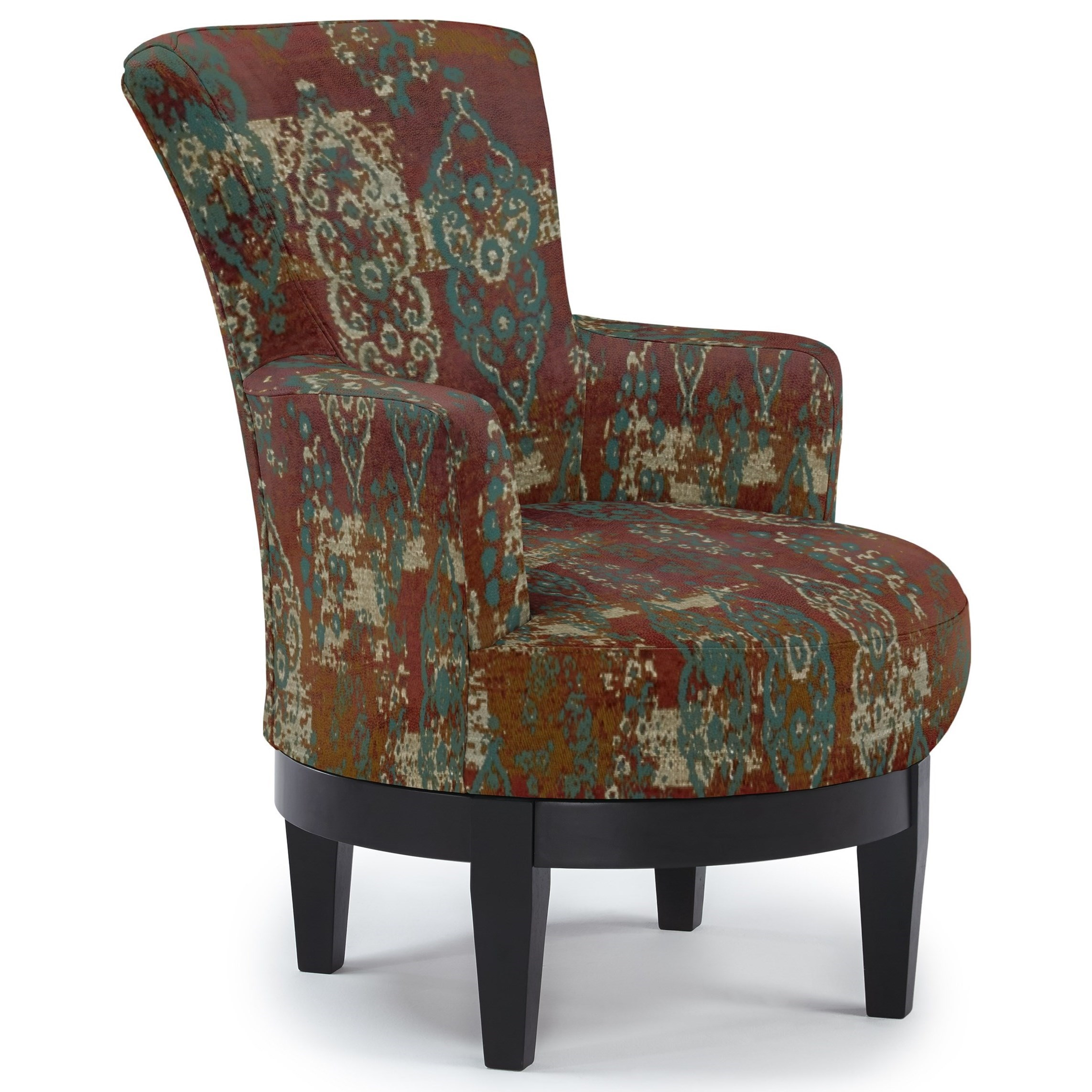 Chairs - Swivel Barrel Swivel Chair by Best Home Furnishings at Coconis Furniture & Mattress 1st