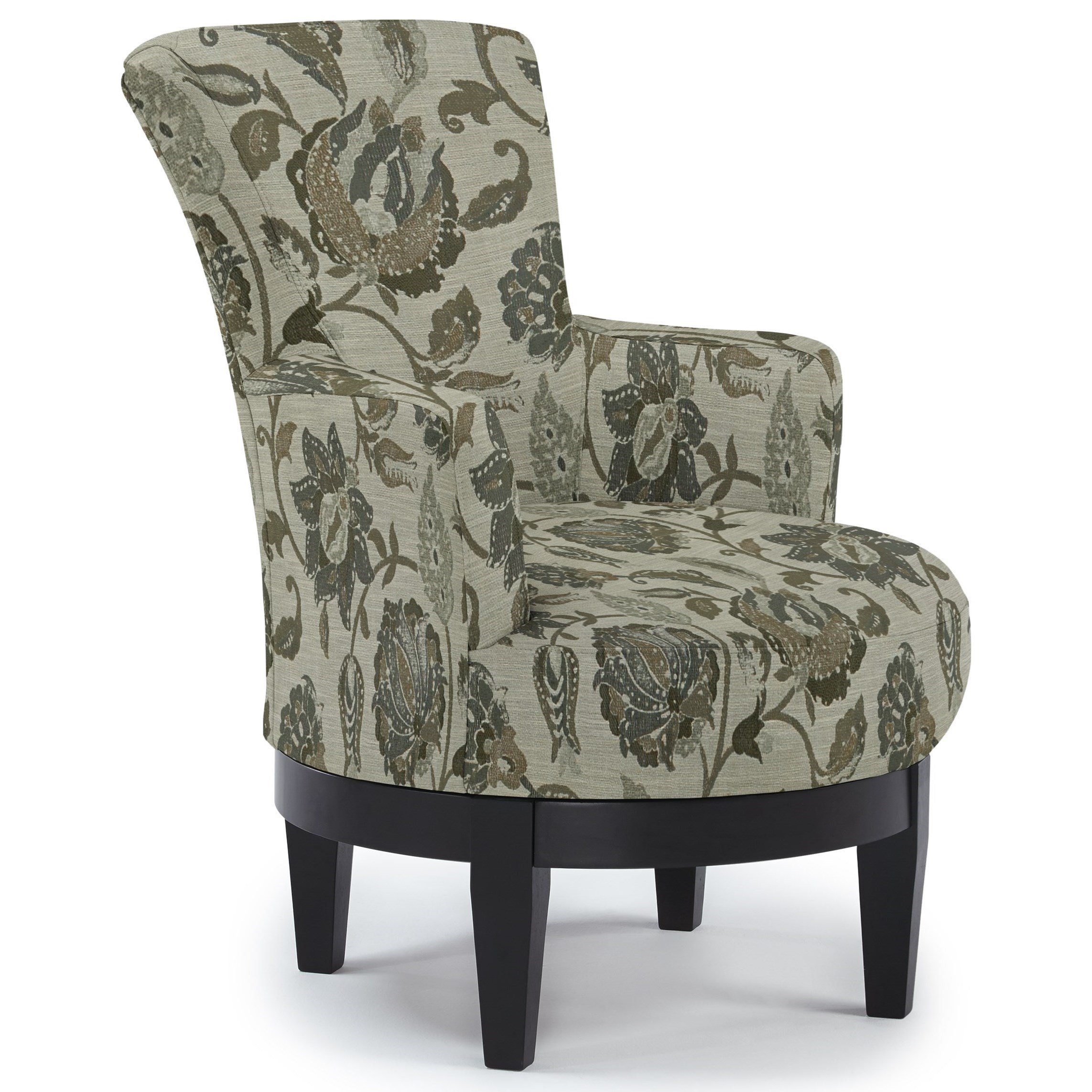 Chairs - Swivel Barrel Swivel Chair by Best Home Furnishings at EFO Furniture Outlet