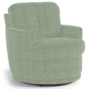 Swivel Chair with Plush Tufted Back