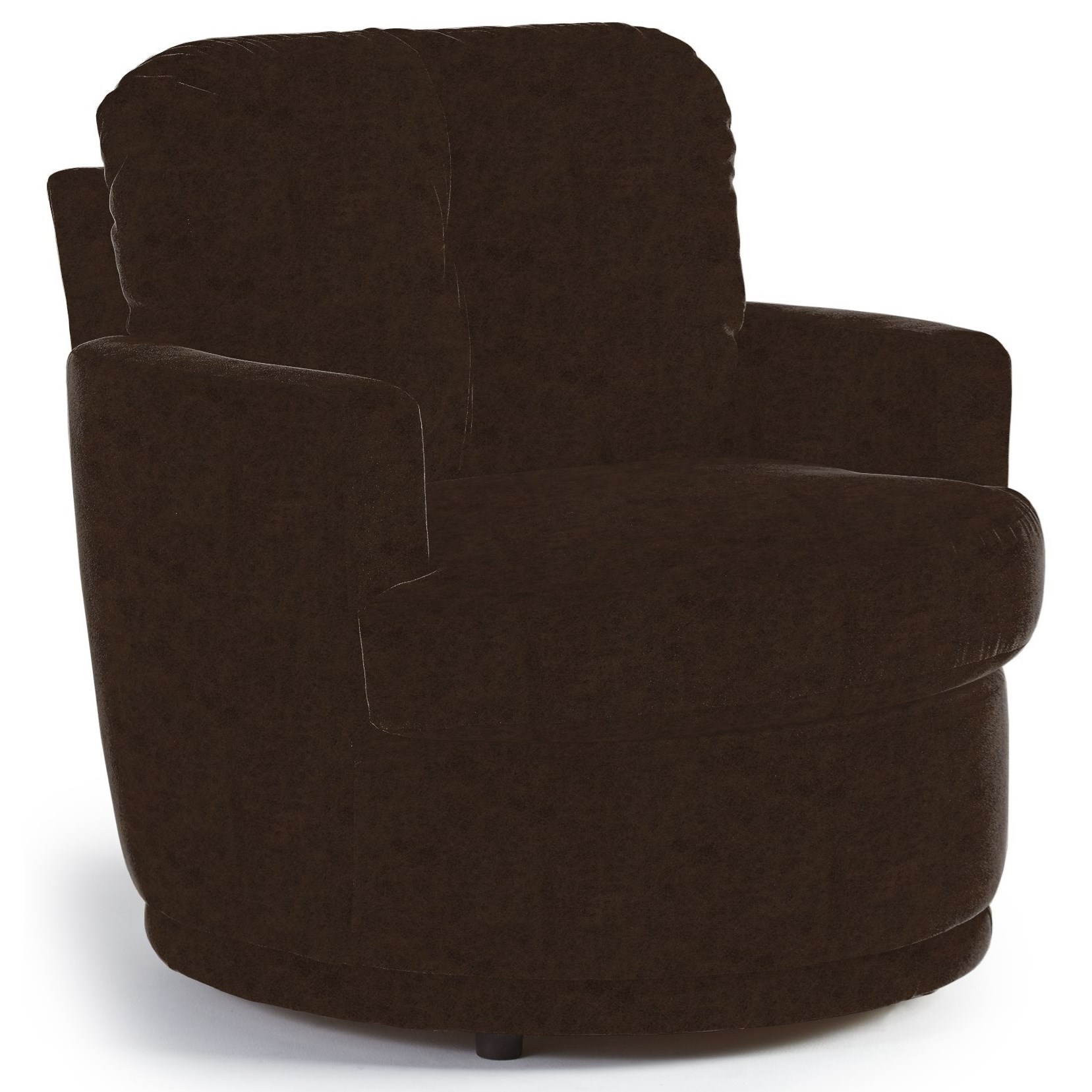 Chairs - Swivel Barrel Swivel Chair by Best Home Furnishings at Lucas Furniture & Mattress