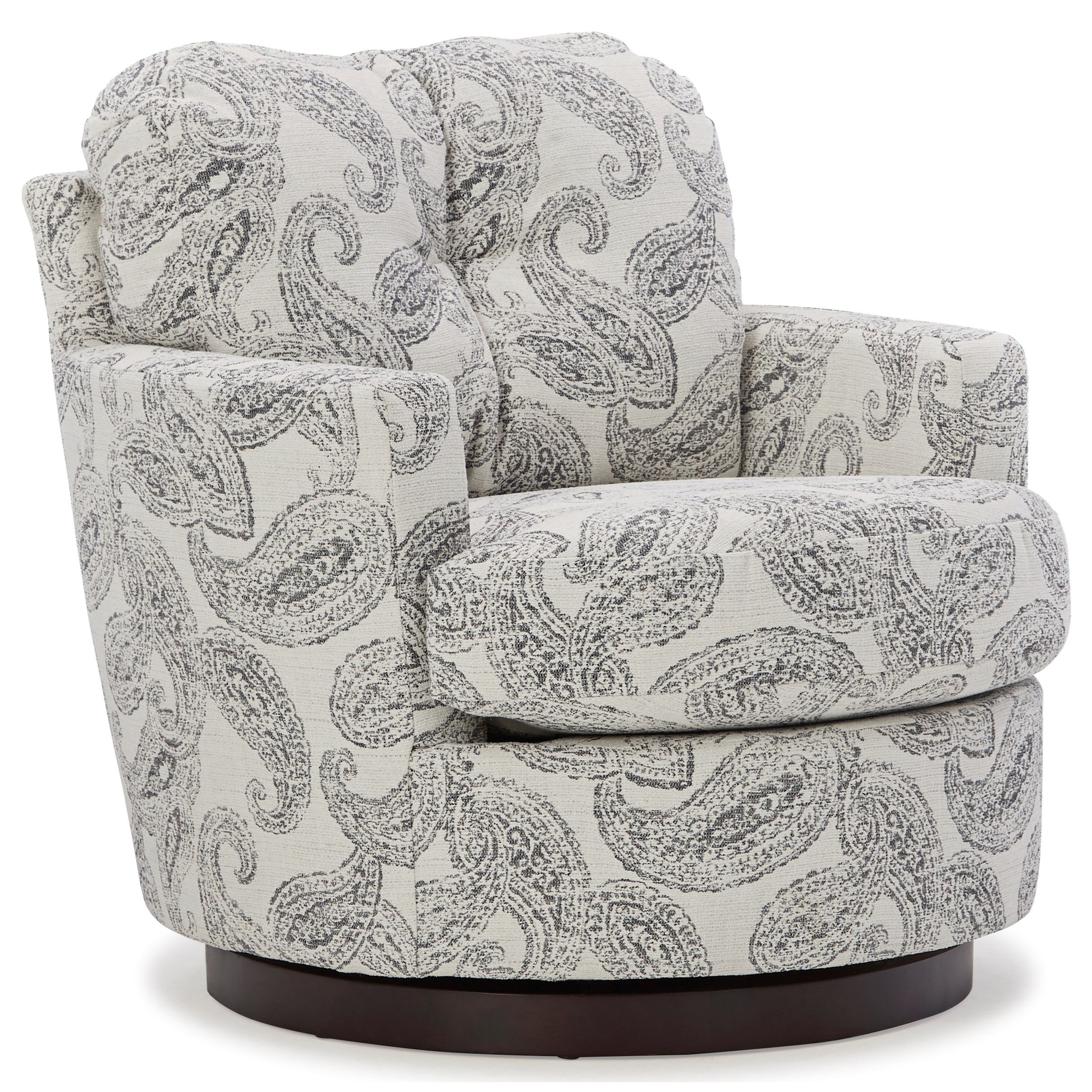 Swivel Barrel Chairs Swivel Chair by Best Home Furnishings at Darvin Furniture