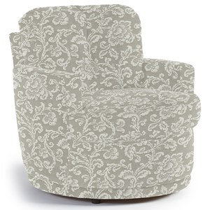 Skipper Swivel Chair with Plush Tufted Back