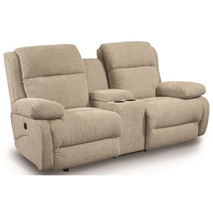 Power Space Saver Reclining Console Loveseat with Power Tilt Headrests and USB Charging Ports