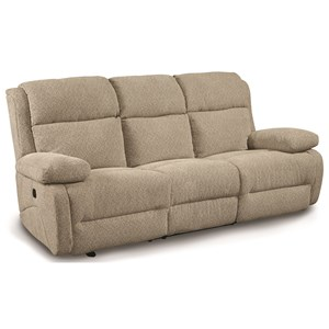 Power Space Saver Reclining Sofa with Power Tilt Headrest and USB Charging Ports