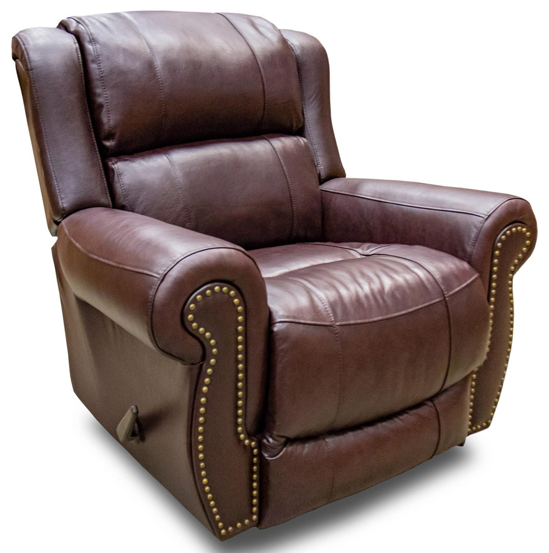 Chocolate Leather Rocker Recliner