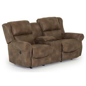 Best Home Furnishings Terrill Space Saver Reclining Loveseat w/ Console