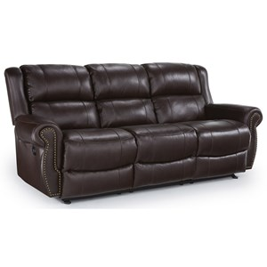 Transitional Power Space Saver Reclining Sofa