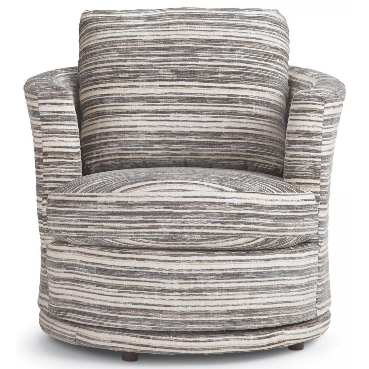 Tina Swivel Barrel Chair by Best Home Furnishings at Walker's Furniture