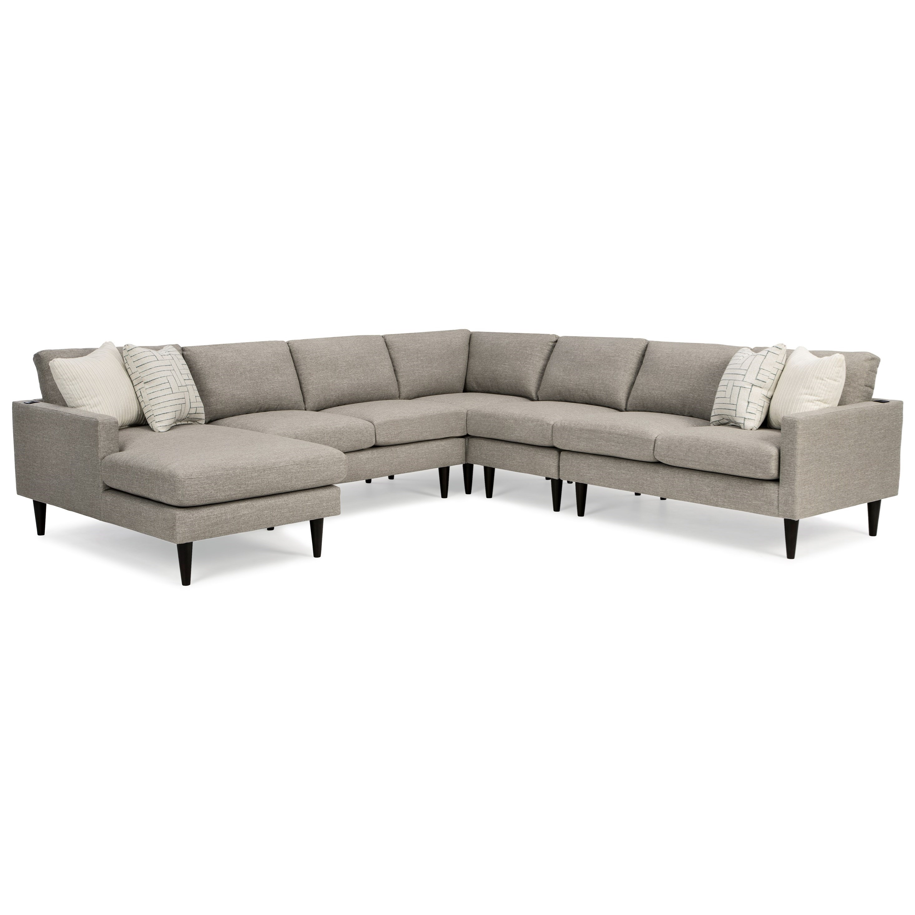 Trafton 6-Seat Sectional Sofa w/ LAF Chaise by Best Home Furnishings at Baer's Furniture