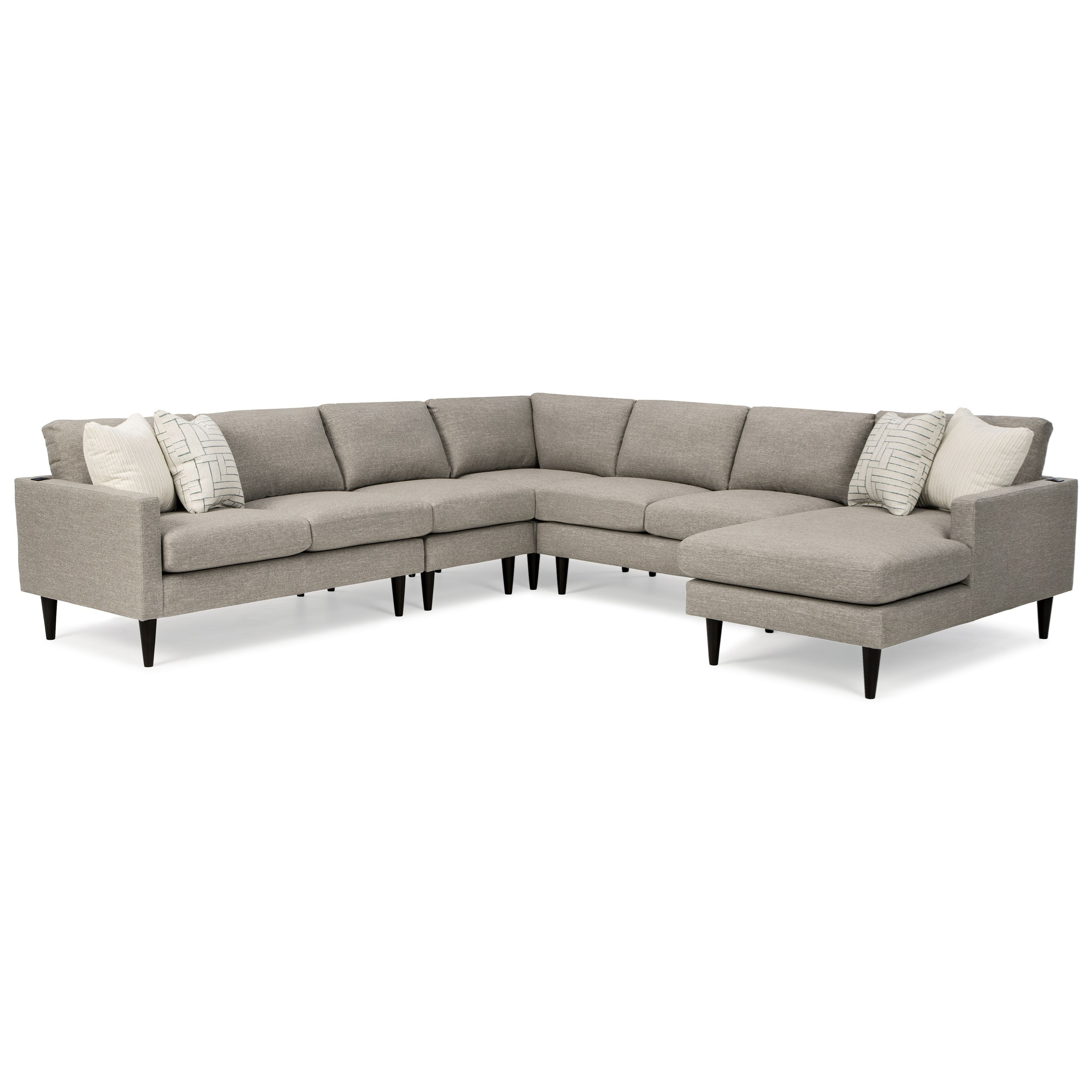 Trafton 6-Seat Sectional Sofa w/ RAF Chaise by Best Home Furnishings at Mueller Furniture