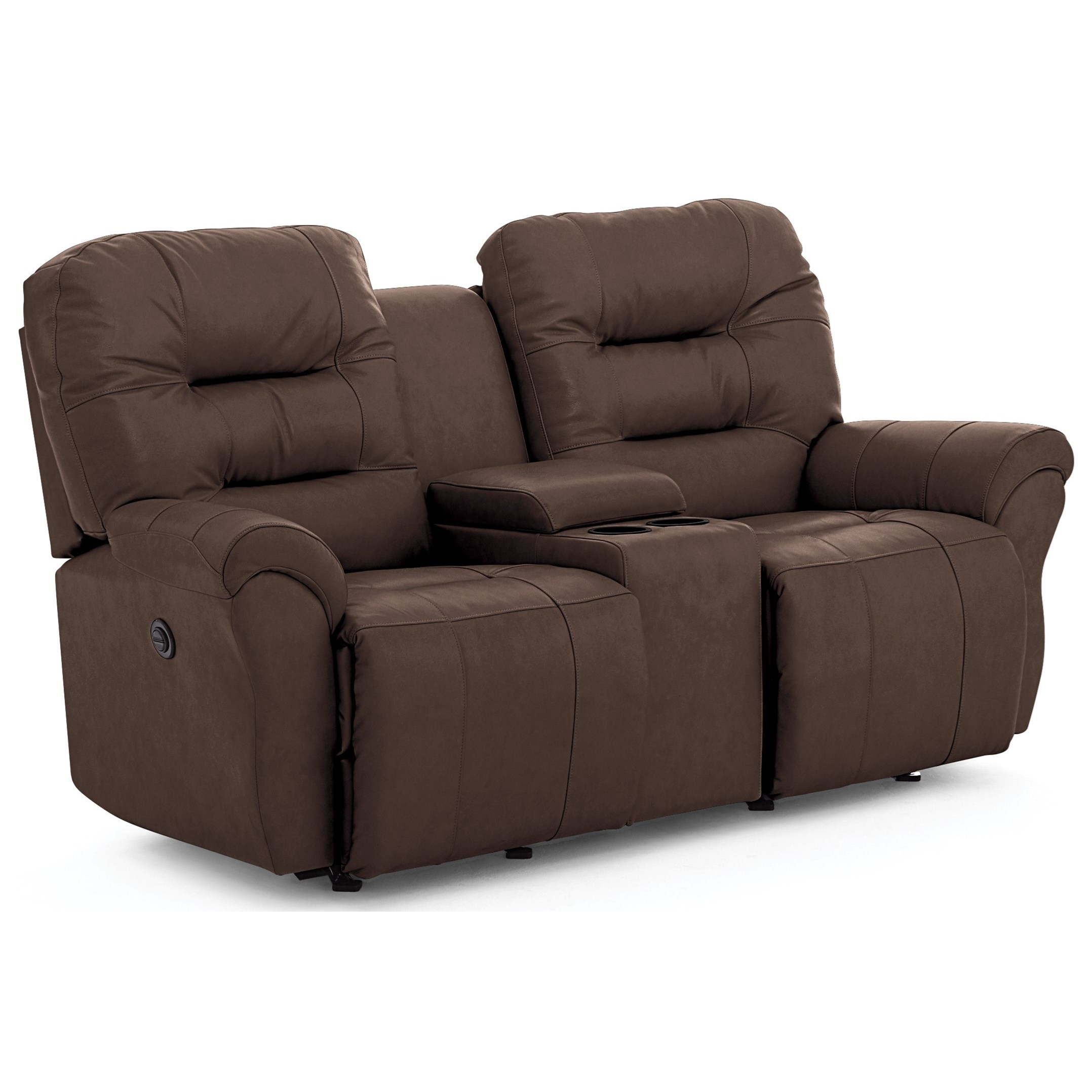 Unity Space Saver Console Loveseat Chaise by Best Home Furnishings at Best Home Furnishings