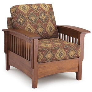 Upholstered Chair with Wood Frame