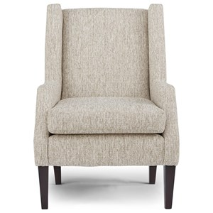 Transitional Club Chair with Wing Back