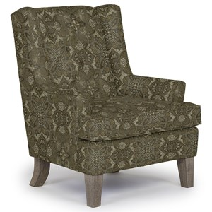 Rebecca Wing Chair with Tufted Back