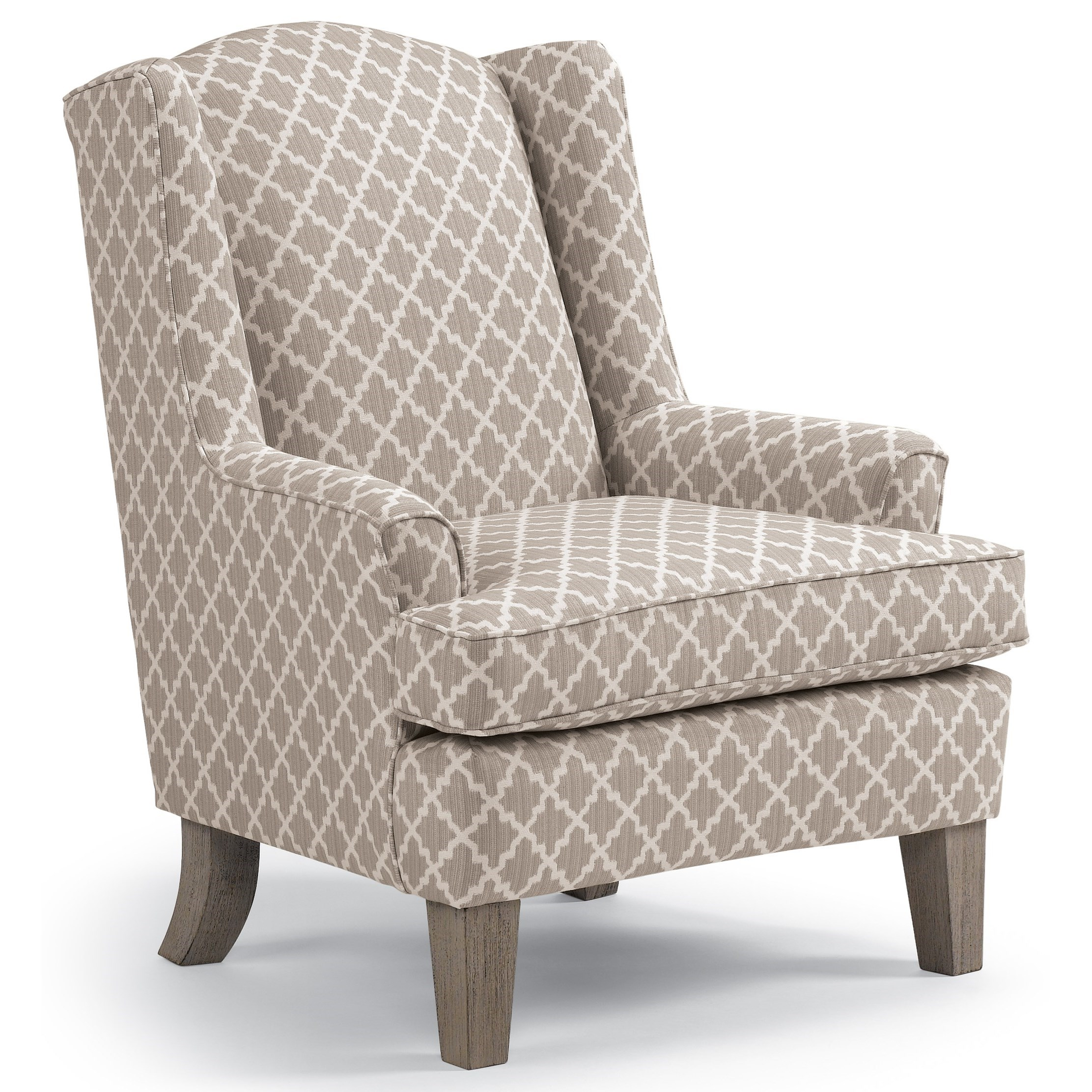 Wing Chairs Andrea Wing Chair by Best Home Furnishings at Godby Home Furnishings