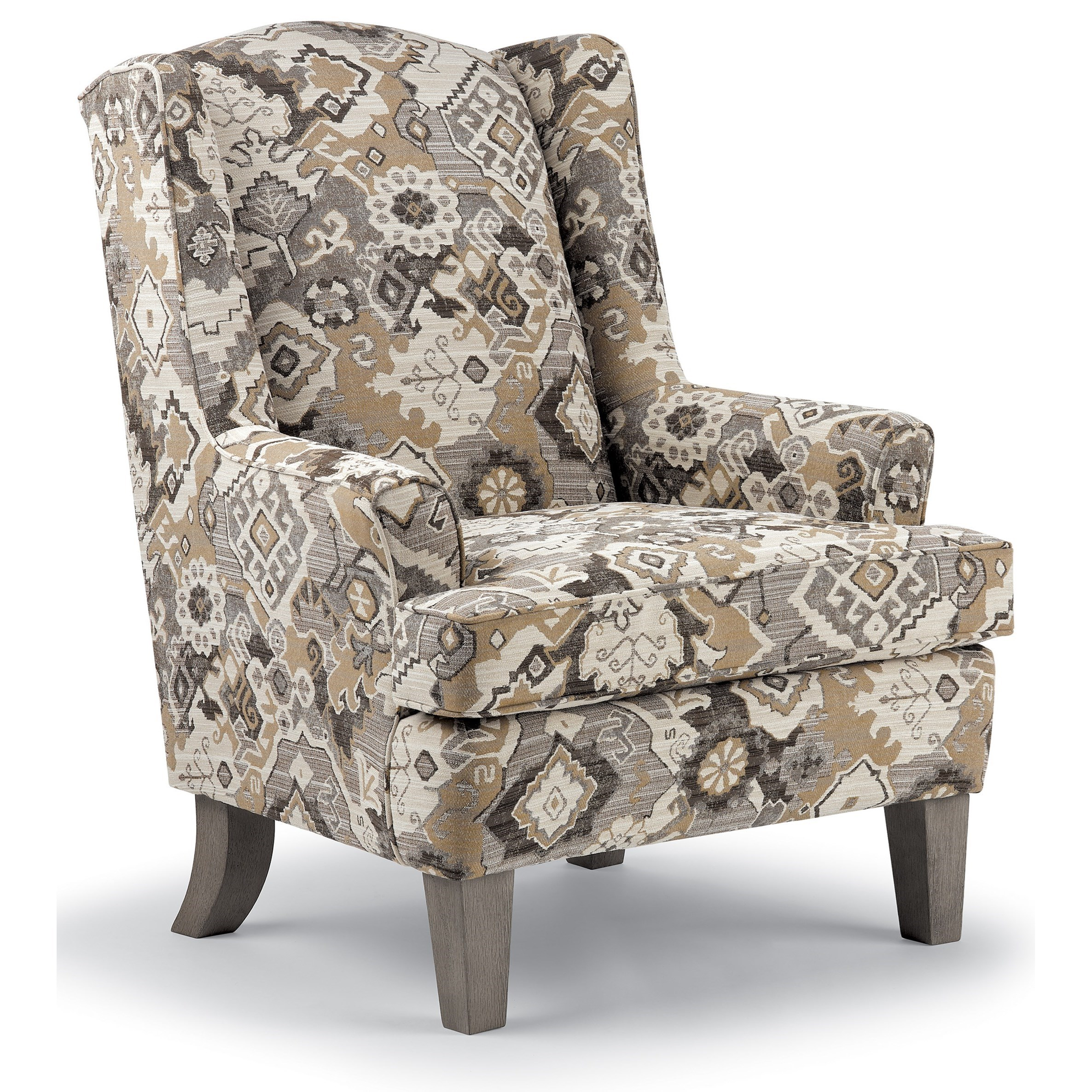 Wing Chairs Andrea Wing Chair by Best Home Furnishings at Baer's Furniture