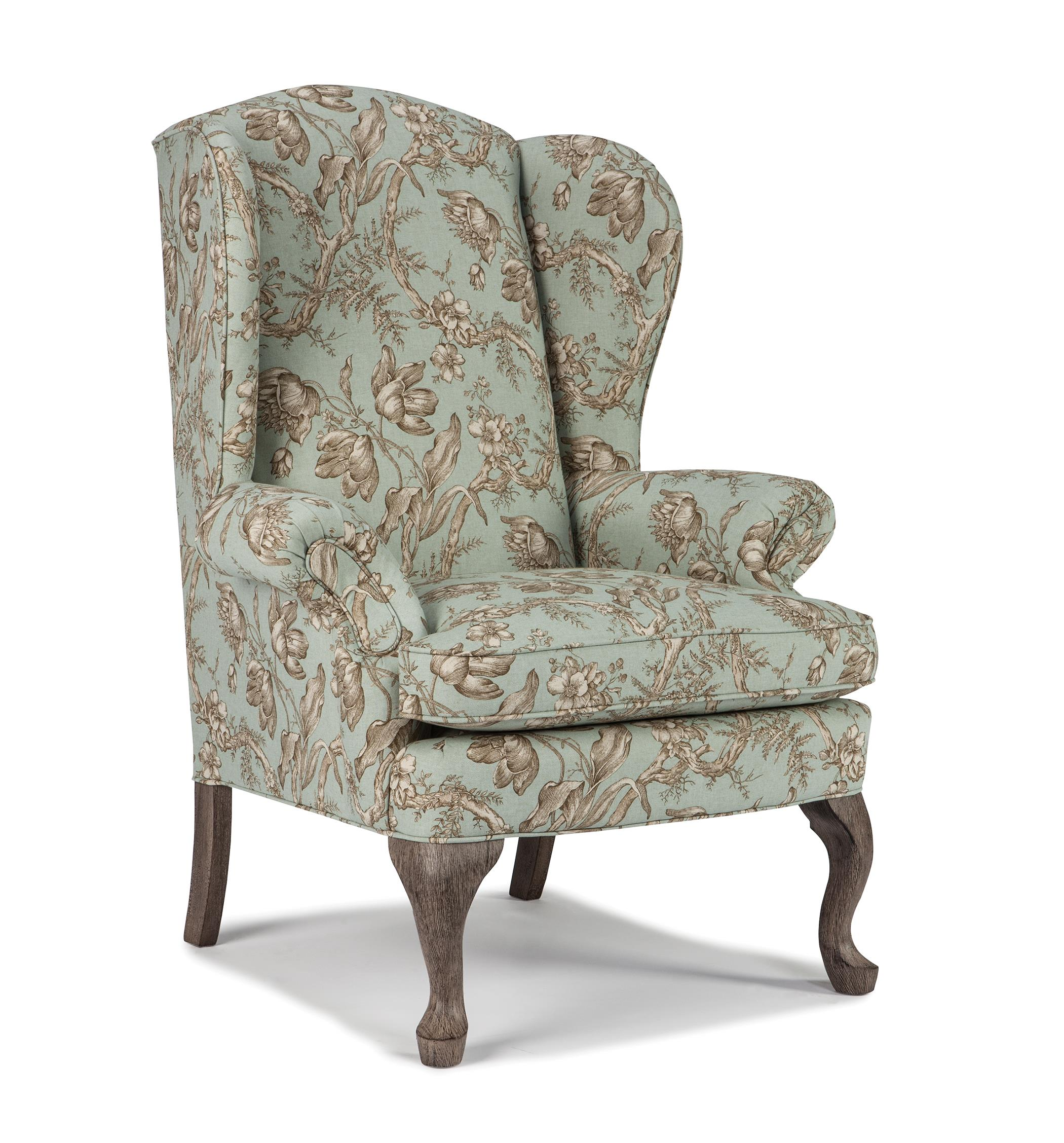 Wing Chairs Sylvia Wing Chair by Best Home Furnishings at Best Home Furnishings