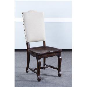 Dark Rustic Pecan Finish Dining Side Chair