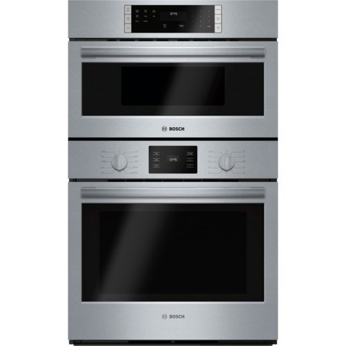 """Electric Wall Ovens 30"""" Microwave Combination Oven - 500 Series by Bosch at Fisher Home Furnishings"""