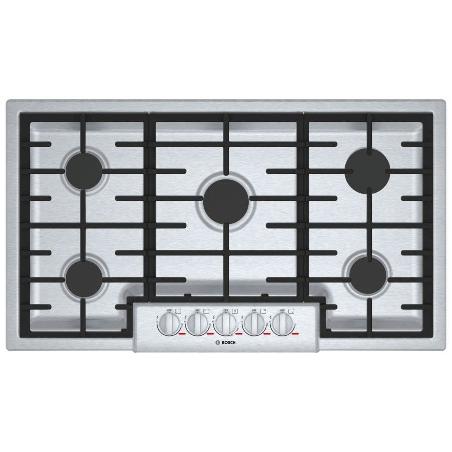 """Gas Cooktops Benchmark® 36"""" 5 Burner Gas Cooktop by Bosch at Furniture and ApplianceMart"""