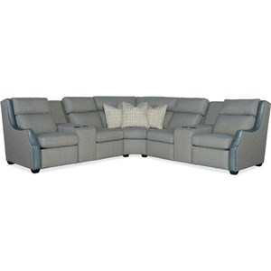 4-Seat Reclining Sectional w/ Pwr Headrests