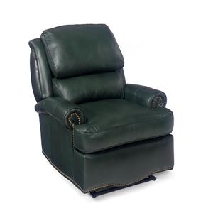 Laredo Swivel Glider Recliner with Brass Nails