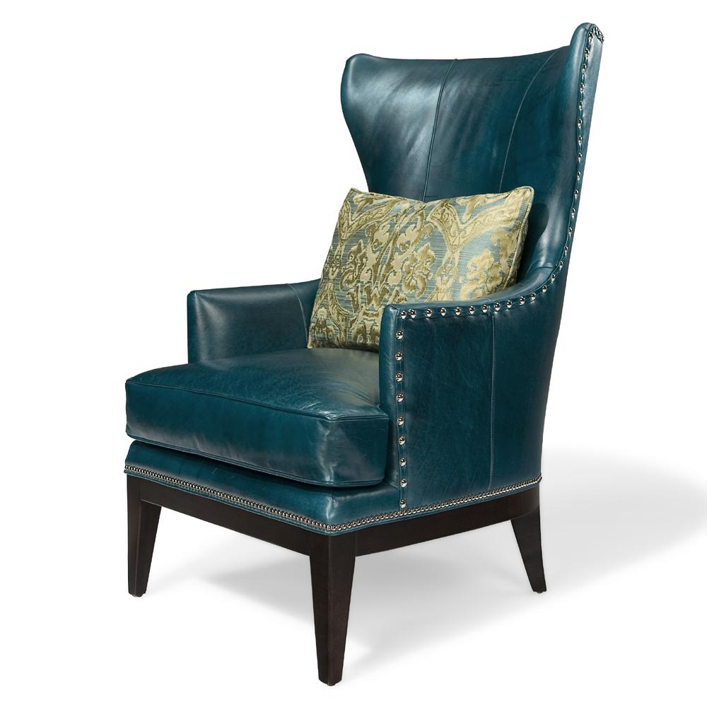 Club Chairs Contemporary Wing Chair by Bradington Young at Baer's Furniture