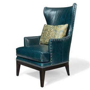 Bradington Young Club Chairs Contemporary Wing Chair