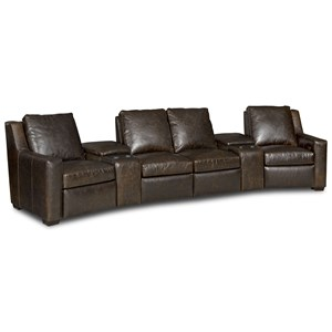 Three Piece Power Reclining Sectional Sofa with Cupholder Storage Consoles