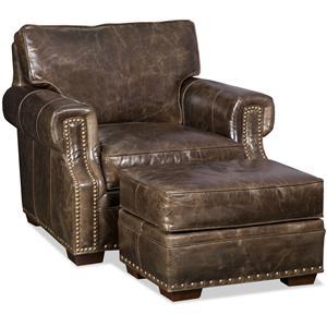 Bradington Young Jude Chair and Ottoman