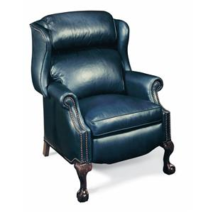 Traditional Reclining Wing Chair W/Brass Nails