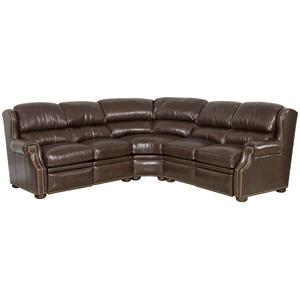 Bradington Young Reid 3 Piece Reclining Sectional Sofa