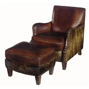 Hooker Furniture Club Chairs Chair and Ottoman