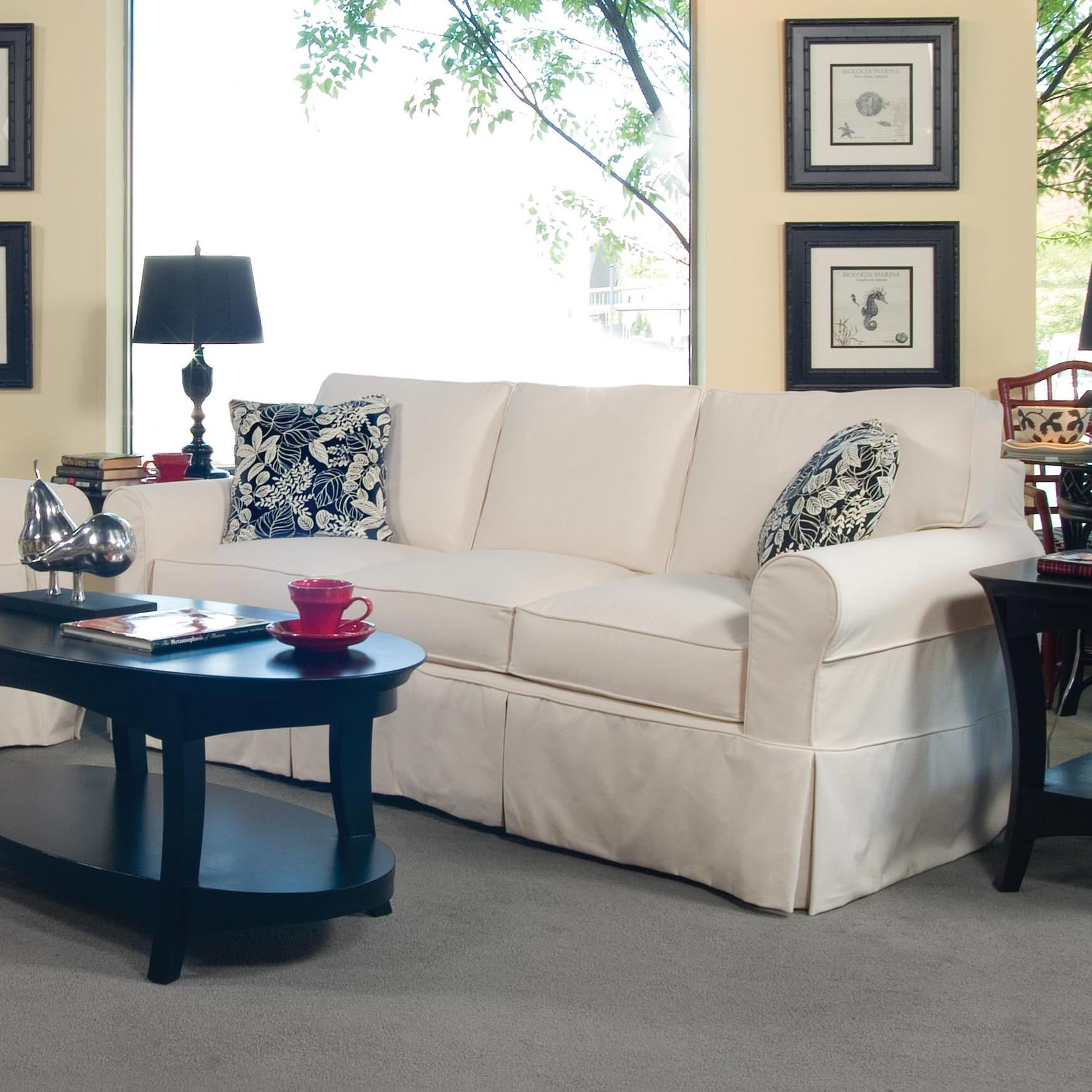 728 3-Seater Stationary Sofa with Slipcover by Braxton Culler at Alison Craig Home Furnishings