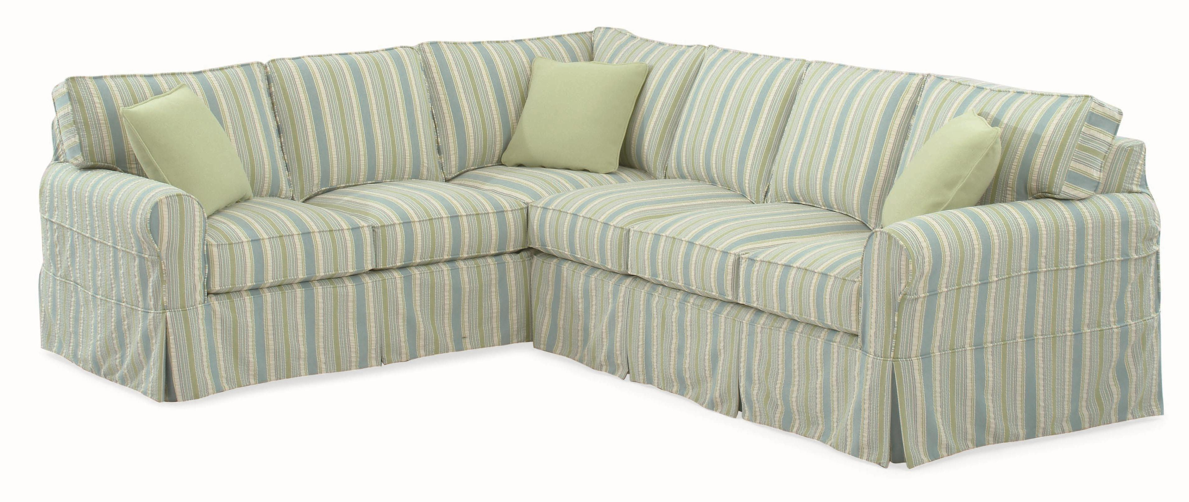 728 Sectional Sofa with Slipcover by Braxton Culler at Esprit Decor Home Furnishings