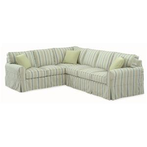 Braxton Culler 728 Sectional Sofa with Slipcover