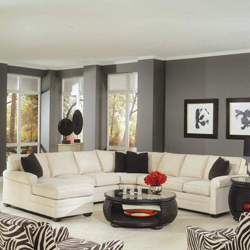 728 4 Piece Sectional with Sofa Sleeper by Braxton Culler at Alison Craig Home Furnishings
