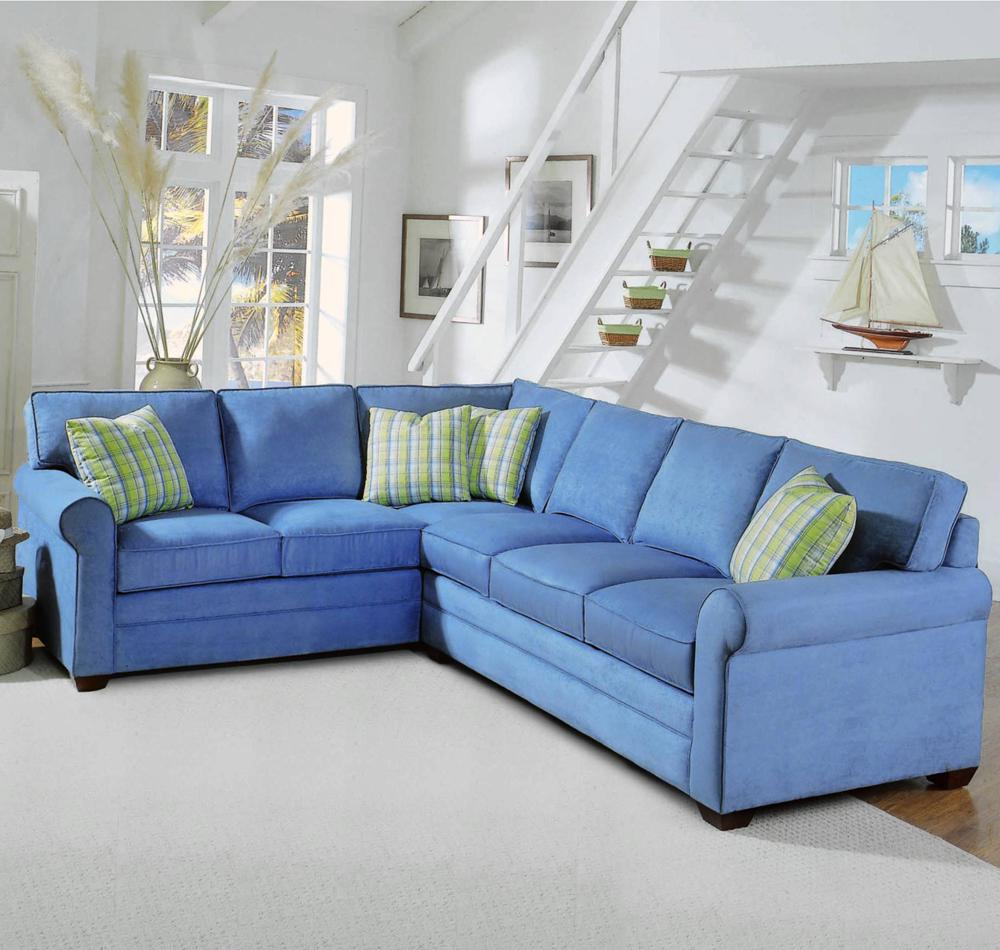 728 2 Piece Sectional with Sleeper Sofa by Braxton Culler at Alison Craig Home Furnishings