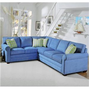 2 Piece Upholstered Sectional