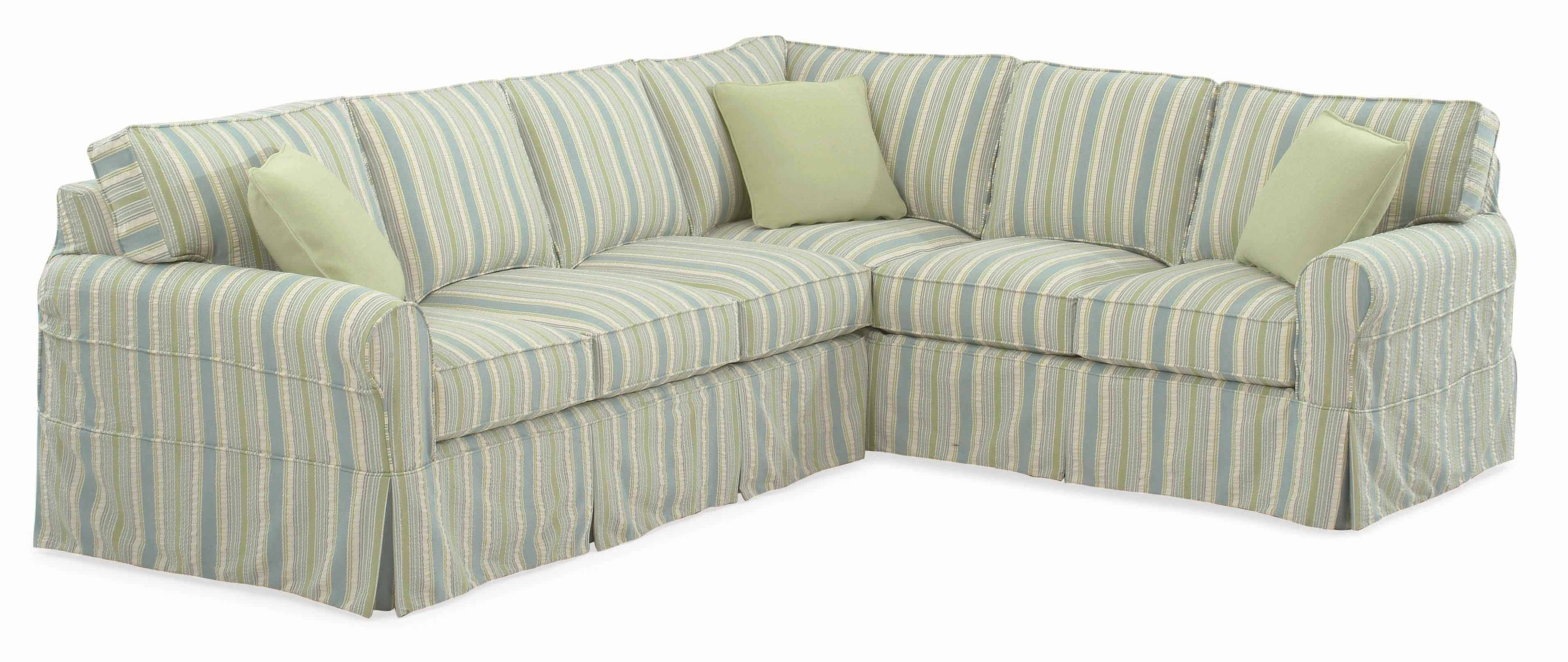 728 Sectional Sofa with Slipcover by Braxton Culler at Alison Craig Home Furnishings