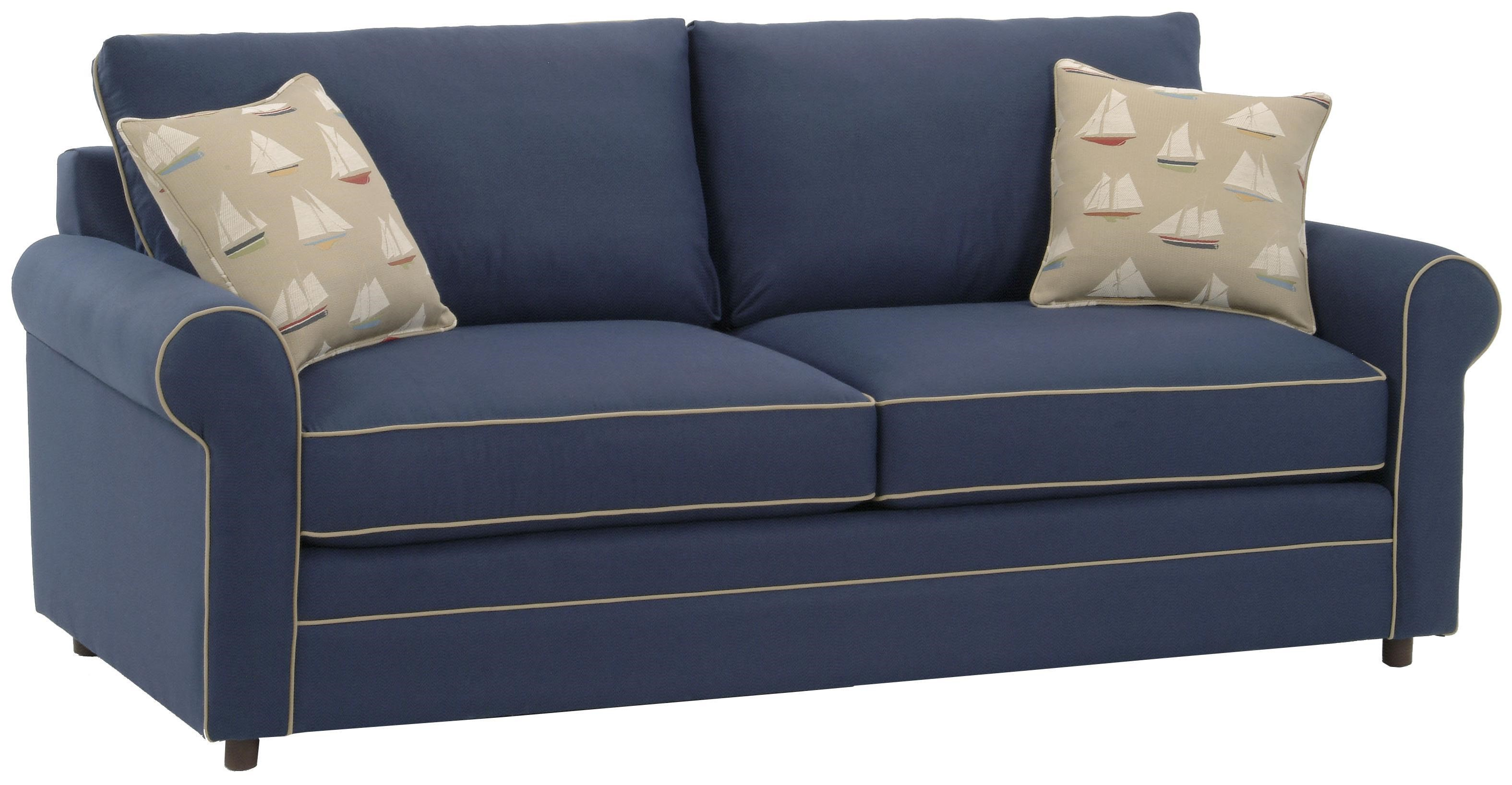Upholstered Sleeper Sofa with Welt Cord Trim